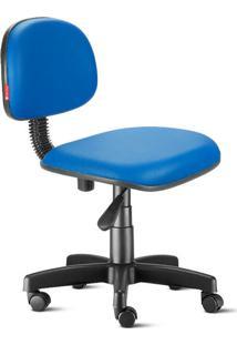 Cadeira Secretária Giratória Courvin Azul Royal