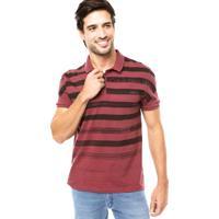 Camisa Polo Calvin Klein Jeans Listrada Vinho 30c9a5f01eb35