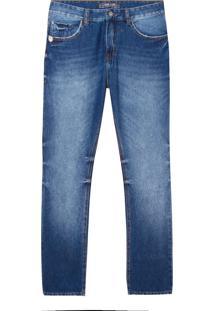 Calça John John Straight Argentina Jeans Azul Masculina (Jeans Medio, 44)