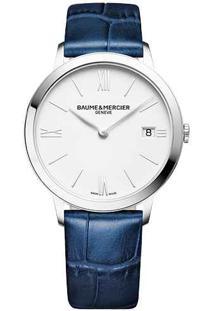 Relógio Baume & Mercier Feminino Couro Azul - M0A10355