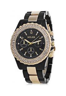 Relógio Feminino Miler Quartzo - Preto