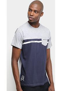 Camiseta Industrie Bicolor C/ Bolso Masculina - Masculino-Cinza
