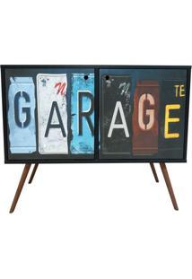 Aparador Com 2 Portas 0118 Phorman - Preto/Garage