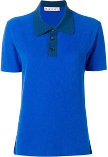 Marni Camisa Polo Mangas Curtas - Azul