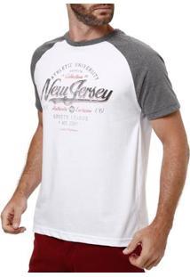 Camiseta Manga Curta Masculina Branco