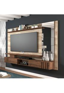 Painel Para Tv Até 50 Polegadas Murano Marrom Claro E Café