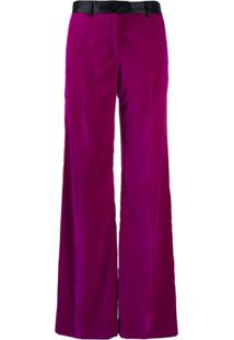 Paul Smith Calça Flare Cintura Alta - Roxo