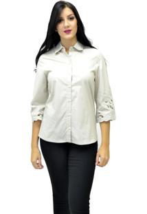 Camisa Manga Longa Energia Fashion Bege