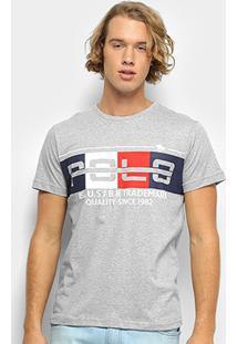 Camiseta Polo Rg 518 Masculino Careca - Masculino-Cinza