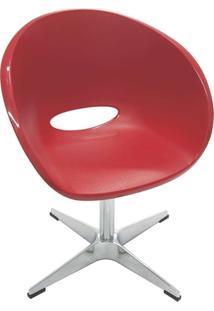 Cadeira Elena Giratoria Vermelho