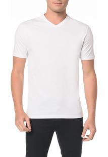 Camiseta Slim Gola V Com Estampa Fita - Ggg