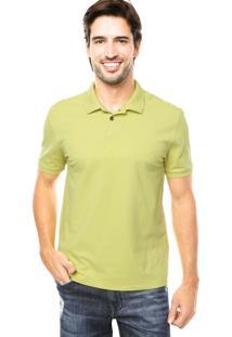 Camisa Polo Calvin Klein Silk Verde