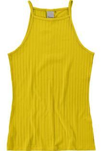 Blusa Amarelo Canelada
