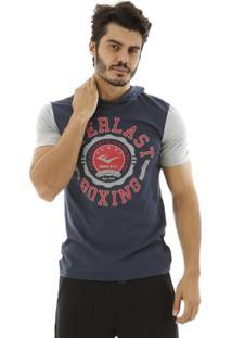 Camiseta Com Capuz Everlast - Masculino-Azul Escuro
