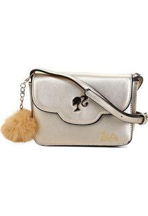Bolsa Gash Mini Bag Barbie Feminina - Feminino-Ouro