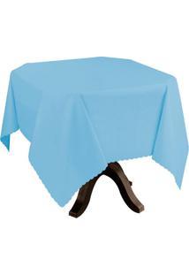 Toalha De Mesa Impermeável Azul 1,40X2,00