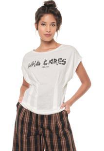 Camiseta Colcci Who Cares Off-White