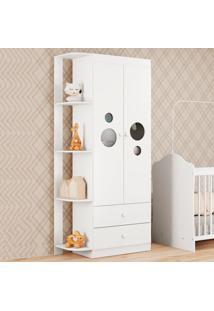 Guarda-Roupa De Bebê 2 Portas 2 Gavetas Ping Pong Flex Brc/Colorido - Multimóveis