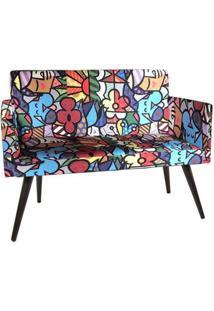 Namoradeira Decorativa Nina Suede Romero Brito - Ds Mã³Veis - Floral - Dafiti