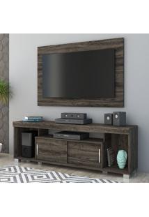 Rack Com Painel Para Tv 2 Portas Pierre 704025 Vulcano - Madetec