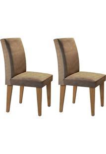 Cadeira Rufato Grécia Mdf Imbuia (2 Uni) Chocolate