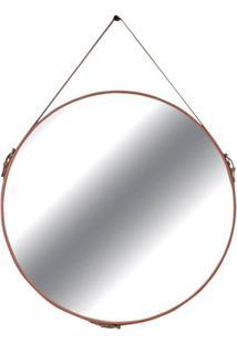 Espelho Elena Prata Borda Terracota 90Cm - 60292 - Sun House