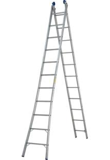 Escada Extensível 2X11 22 Degraus - Unissex-Prata