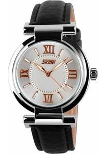 Relógio Skmei Analógico 9075 - Feminino-Preto