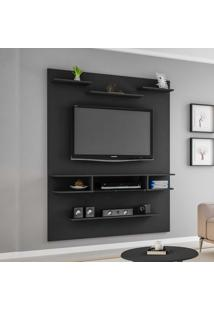 Painel Para Tv Até 55 Polegadas Sigma 2075379 Preto Fosco - Bechara Móveis