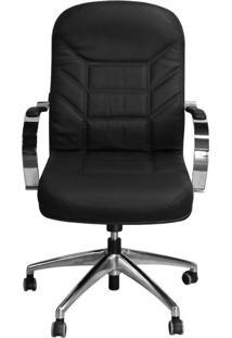 Cadeira Pethiflex Magnifica Dgc Giratória Couro Preto