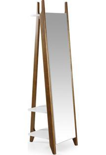 Espelho Stoka 169,5 Cm 988 Nogal/Branco - Maxima