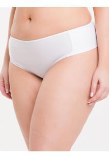 Calcinha Fio Dental Plus Size - Branco - 1Xl