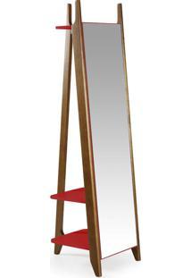 Espelho Stoka 169,5 Cm 988 Nogal/Vermelho - Maxima