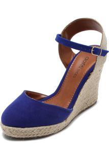 Sandália Dafiti Shoes Espadrille Azul-Marinho