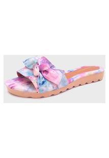 Sandália Feminina Tie Dye Roxo Gomes Shoes