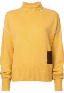 Rochas Oversized Turtleneck Jumper - Amarelo