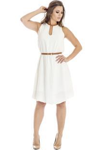 Vestido Alphorria A.Cult Com Cinto Off White