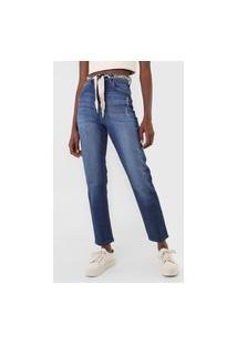 Calça Jeans Lez A Lez Mom Com Cinto Azul