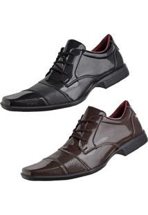 Sapato Social Cr Shoes Fino Preto