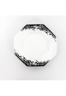 Conjunto De Pratos Fundos Porcelana Schmidt 06 Peças - Dec. Pixel