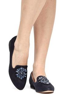 Mocassim Couro Shoestock Slipper Pedraria Feminino - Feminino