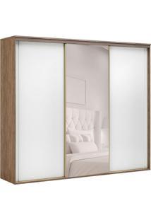 Guarda-Roupa Casal Com Espelho Inovatto Ll 3 Pt 6 Gv Ébano