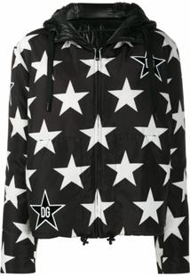 Dolce & Gabbana Jaqueta Matelassê Millennials Star Com Estampa - Preto