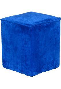 Puff Cubo Pelúcia - Stay Puff - Azul