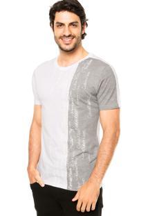 Camiseta Calvin Klein Jeans Relevo Branco
