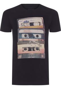 Camiseta Masculina Pf Estampada - Preto