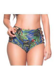 Calcinha Hot Pants Tiras Cruzadas Arara Azul Trends La Playa 2019