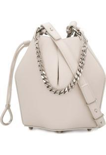 Alexander Mcqueen Small Bucket Bag - Neutro