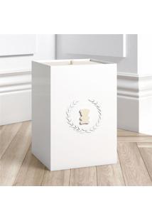 Lixeira Bebe Branco Urso Luxo Grã£O De Gente Bege - Bege - Dafiti