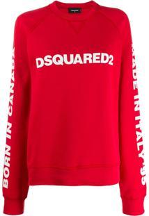 Dsquared2 Blusa De Moletom Com Logo - Vermelho